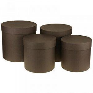 Коробка подарочная, набор 4 штуки: д21см h20см, д19см h18,5с