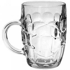 """Кружка для пива стеклянная """"Обычная"""" 650мл, д9,5см h14см (Ки"""