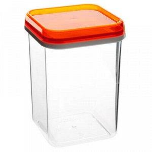 Банка для сыпучих продуктов пластмассовая 1,2л, 11х11х16см (