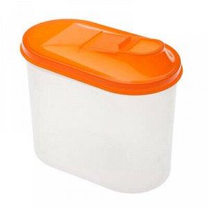 Банка для сыпучих продуктов пластмассовая 1,5л, 18х10,5х16см