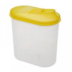 Банка для сыпучих продуктов пластмассовая 2л, 18х10,5х20см.