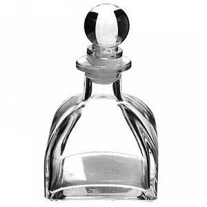"""Графин стеклянный """"Лосьон-2"""" 120мл, прозрачный, h11,5см 7х7с"""