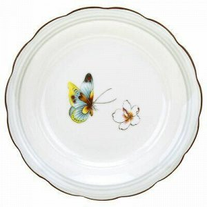 """Бабочки"" Тарелка глубокая фарфоровая д200мм h35мм, 450мл, с"