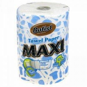"""Полотенце бумажное 2-х слойное """"Batist MAXI"""" 50м, 1 рулон, 4"""