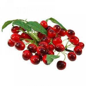 Декоративная вишня на ветка 45 штук, 18см, красный (Китай)