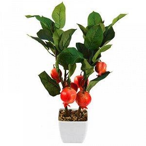 """Декоративное дерево """"Гранат"""" h54см в пластиковом горшке 11,5"""