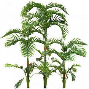 "Декоративное дерево ""Ховея"" 3 ствола 90см 12 листьев; 120см"