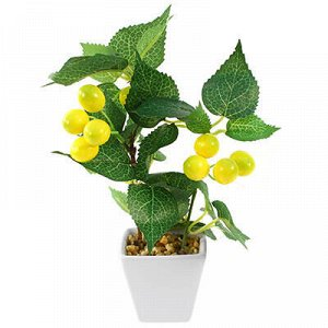 "Декоративное дерево ""Лимон"" h21см в горшке 6,5х6,5см h6,5см"