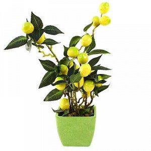 """Декоративное дерево """"Лимон"""" h31см в горшке 9,5х9,5см h8см (К"""