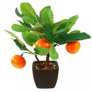 "Декоративное дерево ""Мандарин"" h26см в горшке 7,5х7,5см h6,5"