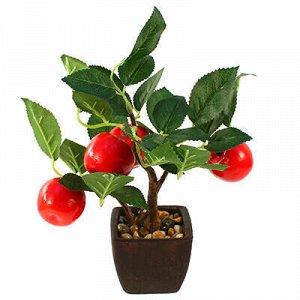 """Декоративное дерево """"Яблоки красные"""" h26см в горшке 7,5х7,5с"""
