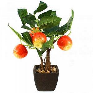 "Декоративное дерево ""Яблонька"" h26см в горшке 7,5х7,5см h6,5"