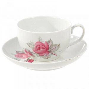 """Чашка чайная фарфоровая """"Дикая роза"""" 210мл, д8,5см, h6см, фо"""