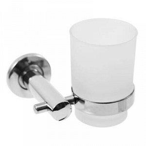 "Стакан для ванной комнаты стекло/хром ""В стакане"" 200мл, д6."