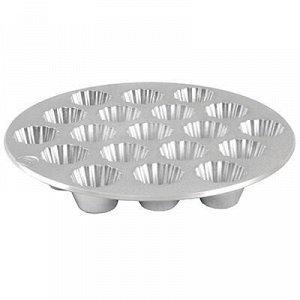 Форма для выпечки кексов алюминиевая, 19 секций д5,2см, лита