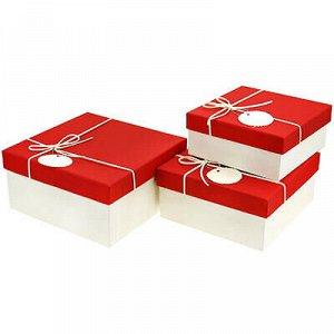 Коробка подарочная, набор 3 штуки: 15х15х6,5см; 17х17х8см; 1