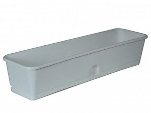 Ящик 600*150*120 белый с под для цв и рассады