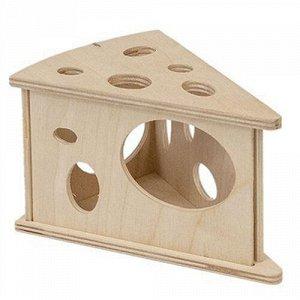 Eco Домик д/грызунов Сыр маленький деревянный 15*10*9см (1/1)
