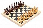 Шахматы деревянные обиходные лакированные
