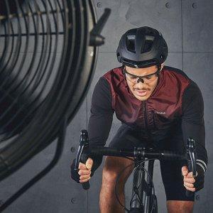 Футболка мужская с длинными рукавами для велоспорта RC 500 бордовая TRIBAN