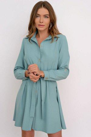 Платье-рубашка (мята) Р11-566/2