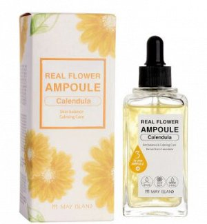 Успокаивающая ампульная сыворотка с календулой Real Flower Ampoule Calendula