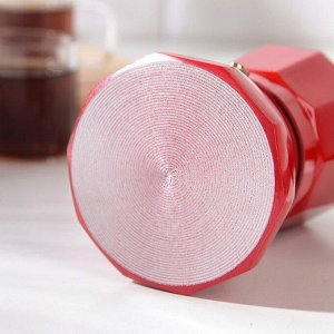 Кофеварка гейзерная «Белланто», на 1 чашку, цвет красный