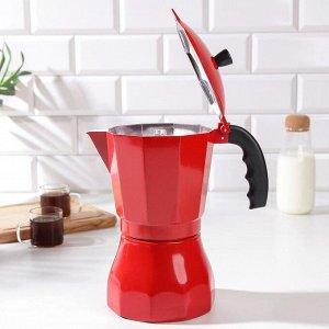 Кофеварка гейзерная «Белланто», на 12 чашек, цвет красный