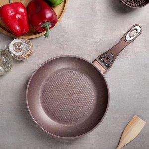 Сковорода кованая «Соты», d=28 см, индукция