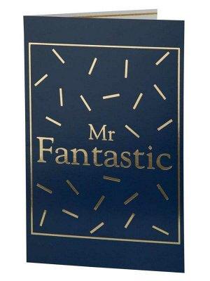 Подарочная открытка с тиснением Фантастический мужчина