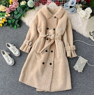 Пальто,бежевый