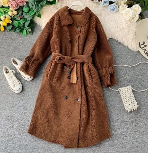 Пальто,коричневый