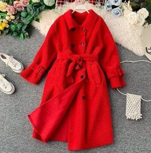 Пальто,красный