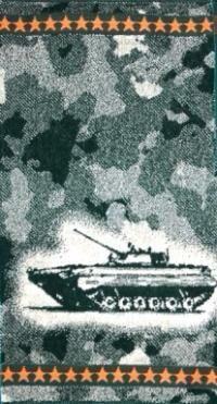 Полотенце махровое Камуфляж (танк)