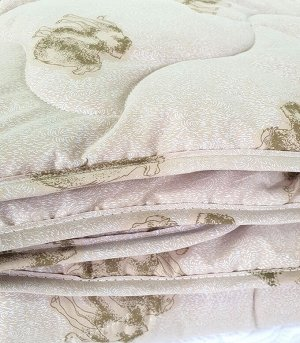 Одеяло верблюжья шерсть (300гр/м) тик
