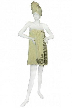 Набор для сауны махровый женский SPA