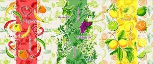 Набор вафельных полотенец Витамины (3шт)