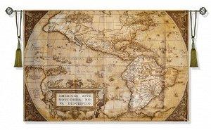Панно Карта сепия (гобелен)