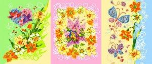 Набор вафельных полотенец Солнечный день (3шт)