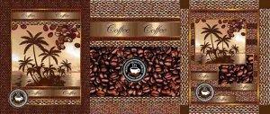 Набор вафельных полотенец Аромат кофе (3шт)