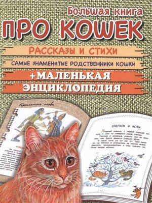 Большая книга про кошек. Рассказы и стихи. Самые знаменитые родственники кошек+маленькая энциклопедия