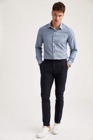 рубашка Размеры модели: рост: 1,89 грудь: 100 талия: 81 бедра: 97 Надет размер: M  Хлопок 60%, Полиэстер 40%