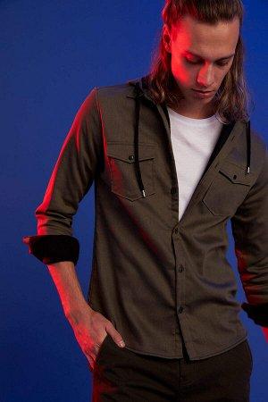 рубашка Размеры модели: рост: 1,92 грудь: 96 талия: 80 бедра: 95 Надет размер: M  Полиэстер 25%,Elastan 2%, Хлопок 73%