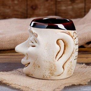 "Кружка для пива ""Рожа"" 0,5 л, микс, керамика, микс"