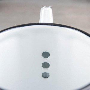 Чайник 1 л, фиксированная ручка, рисунок МИКС
