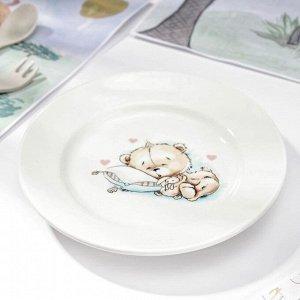 Тарелка мелкая «Кроха», d=17,5 см, МИКС