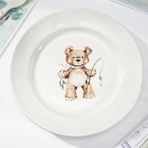 Тарелка мелкая «Медвежата», d=20 см, МИКС