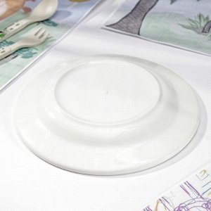 Тарелка мелкая «Озорные щенки», d=20 см