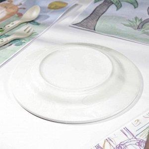 Тарелка мелкая «Паровозик», d=20 см
