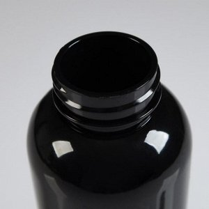 """Бутылка для воды 500 мл """"My bottle"""" с винтовой крышкой, чёрная, 6.5х21,5 см"""